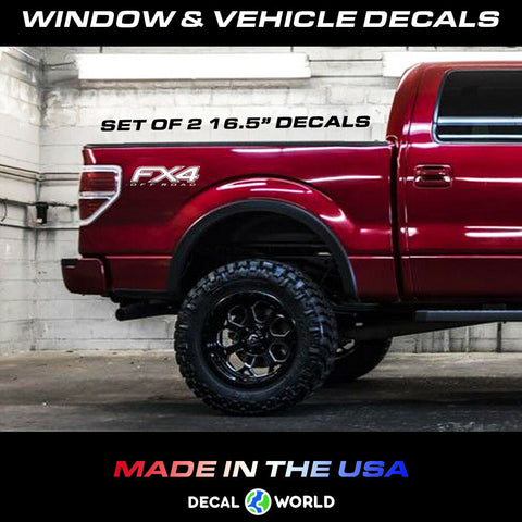 Ford F150 f250 FX4 Off Road Decals 2009-2014