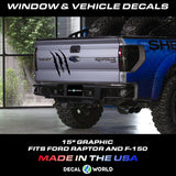 FORD F-150 & Raptor Tail Gate Graphics - Raptor Claw Decal