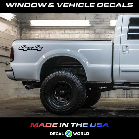 4x4 Off Road Truck Bed Decal Set Ford Super Duty F150 F250 F350