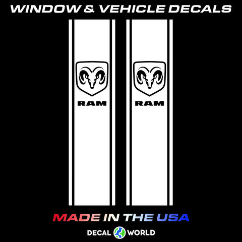 Dodge Ram Truck Bedside Stripes - Ram Badge