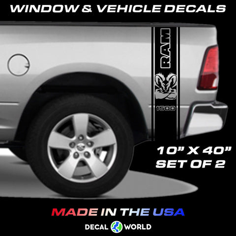 Dodge Ram Truck Bed Side Stripes - 1500