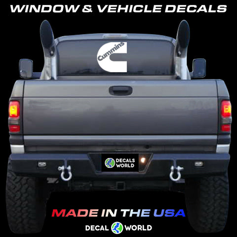 7 inch Cummins Window Decal