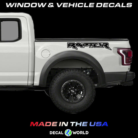 FORD 150 RAPTOR Truck Side Bed Lettering 2010-2019