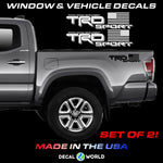 Toyota Tacoma TRD Sport American Flag Off Road Bed Side Decals - Replacement OEM