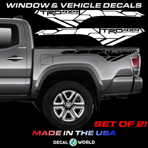 Toyota Tacoma 2016-2019 3rd Gen Bedside TRD 4x4 Offroad Decals