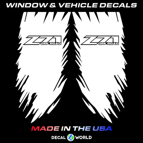 Chevy Weathered Truck Bed Side - Z71 Offroad