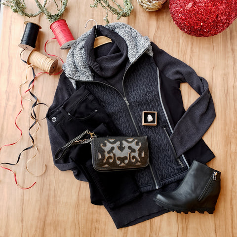 Black on Black: Holiday Outfit Inspiration