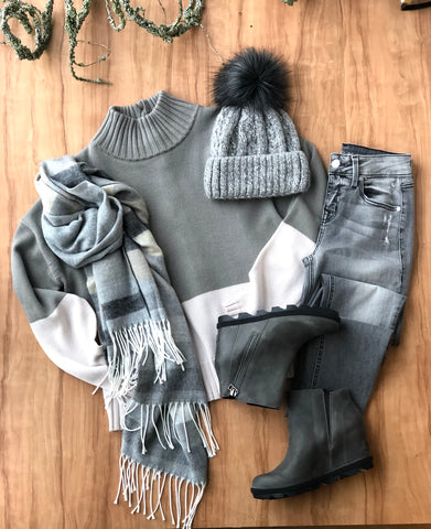 Cozy Sweaters, Scarves, and Denims