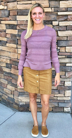 Women's Button Front Corduroy Skirts