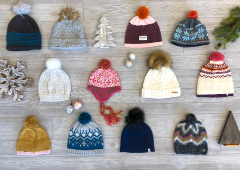 Knit Beanies, Beanie Pom Top Hats, Winter Hats for Women