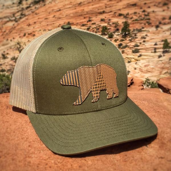 Bear Trucker Hat  Unisex Fit Trucker Hats 31e4bf20672
