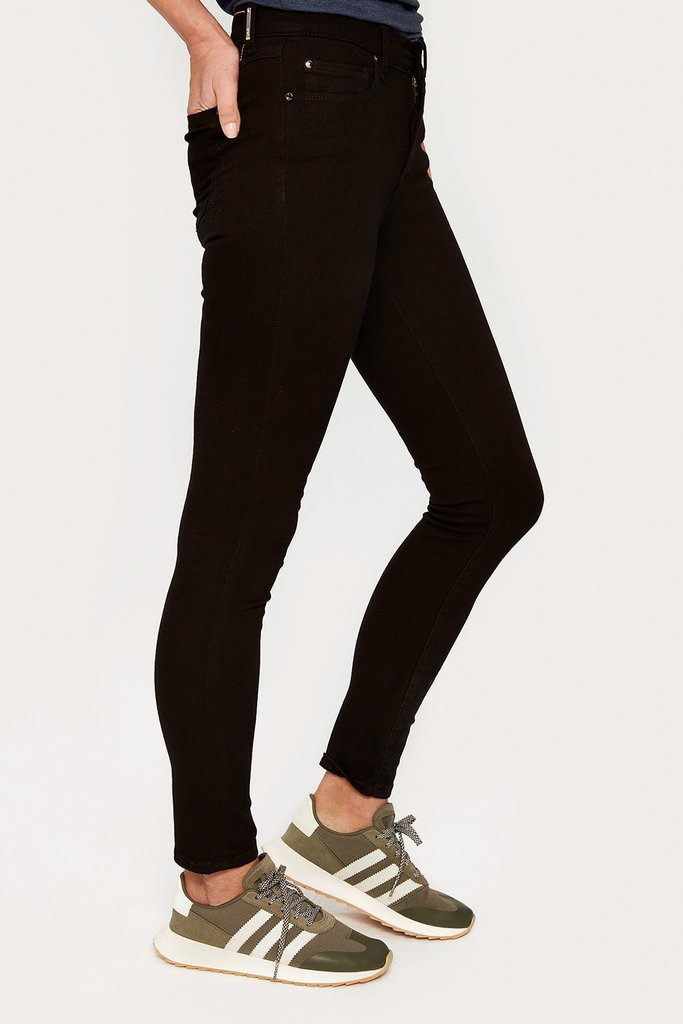 Jet Black Skinny Long Stretch Denim {Sale}
