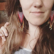 Long Boho Beaded Earrings