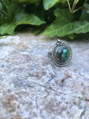 Mother Earth Turquoise Ring [Size 8]