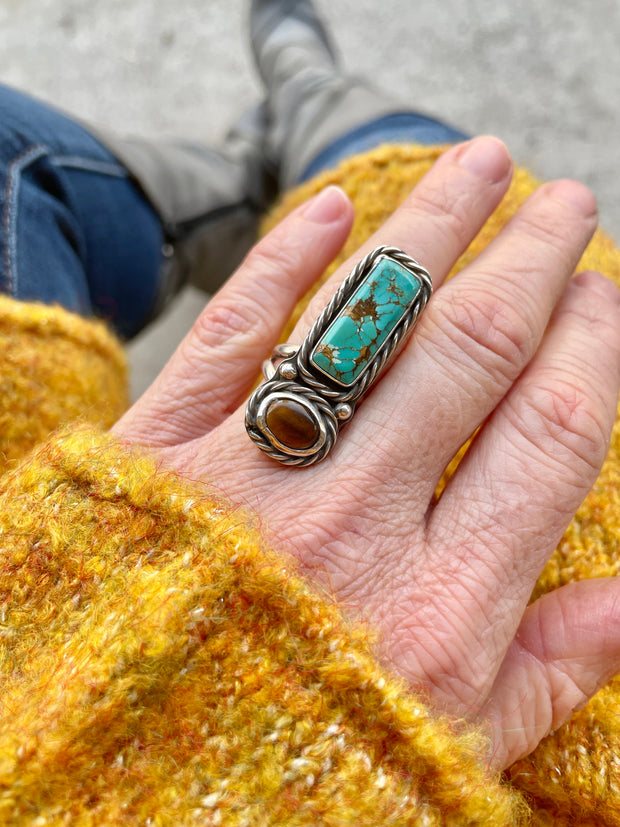 Red Poppy Jasper Ring {Size 8.75-9}