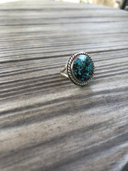 Vintage Turquoise Round Ring {Size 8.5}