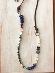 Lapiz + Citrine Mixed Stone Necklace