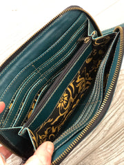 Hand Tooled Cutout Wallet