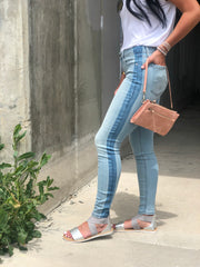 Janice Mid Rise Stretch Denim