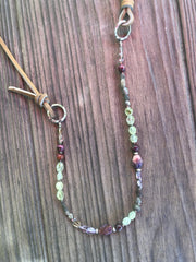 Ametrine + Prehnite + Charorite Beaded Necklace