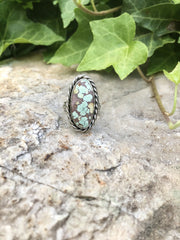 Blue Moon Turquoise Ring [Size 8.5]