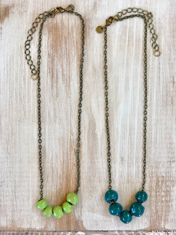 Poppy Short Beaded Necklace