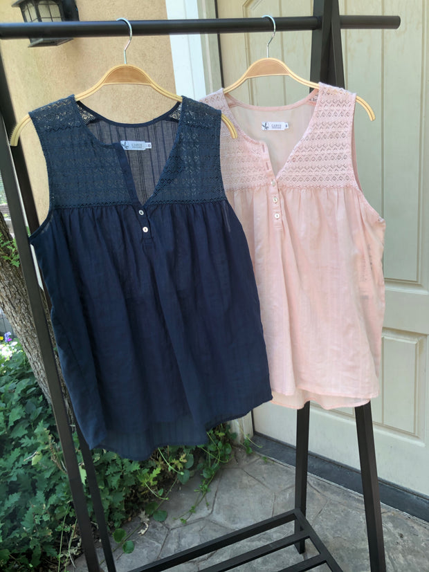 Allison Sleeveless Top [Final Sale]