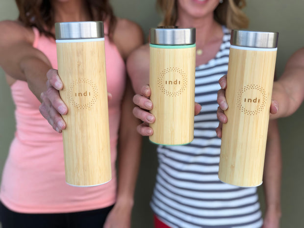 Indi Insulated Bamboo Water Bottles