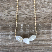 Rutile Quartz 3 Chunky Gemstone Necklace