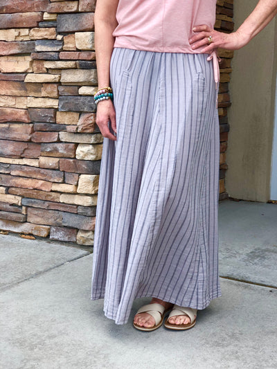 Avalon Stripe Maxi Skirt (Sale)
