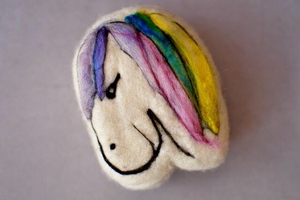 Pony felted soap