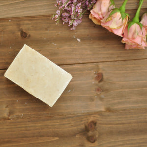 tea tree shampoo bar that is beige in color