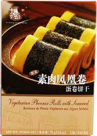 5/10 vegetarian phoenix rolls with seaweed 十月初五紫菜素肉凤凰卷 150G