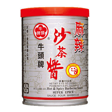 BULL HEAD HOT BARBEQUE SAUCE 250G 牛头辣味沙茶酱