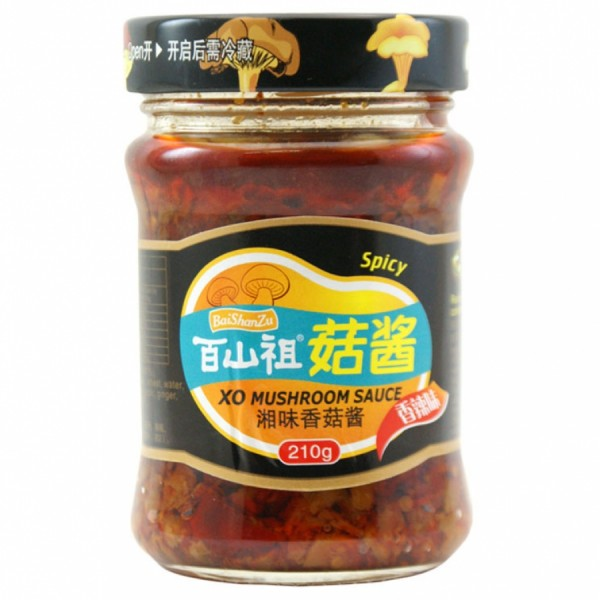 BAISHANZU M/ROOM SCE SPICY 210G 百山祖 菇酱 香辣味