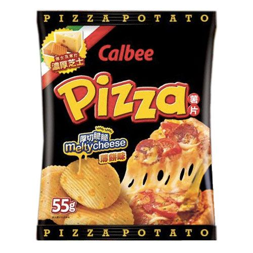 Calbee Pizza Flavoured Potato Chips 卡乐B 薄饼薯片 55g