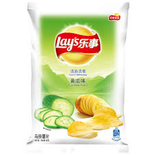 Lay's chips(cucumber flavour) 乐事 黄瓜薯片70g