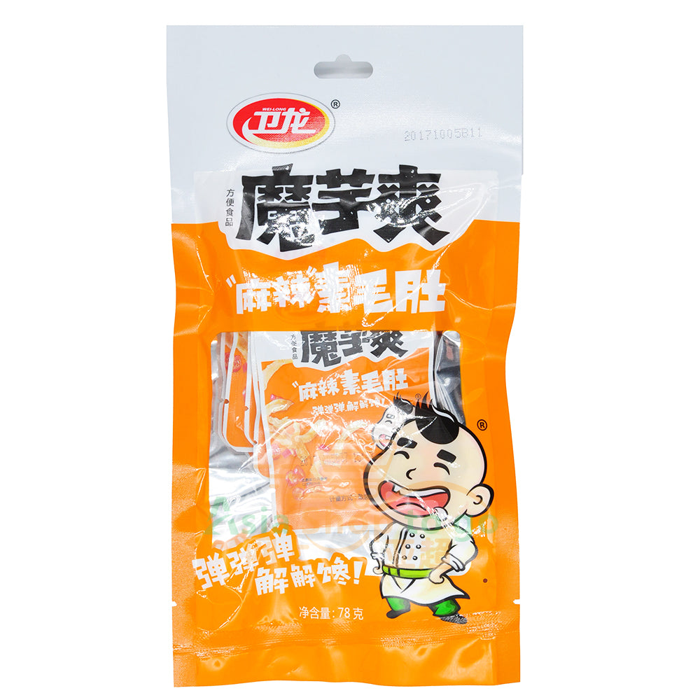Weilong Konjac Mock Stripe Snack (Sichuan Spicy) 卫龙魔芋爽素毛肚麻辣味 78g