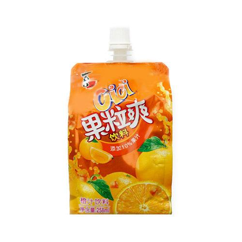 Cici Fruit Drink (Orange Flavour) 喜之郎果粒爽 (香橙) 258mL