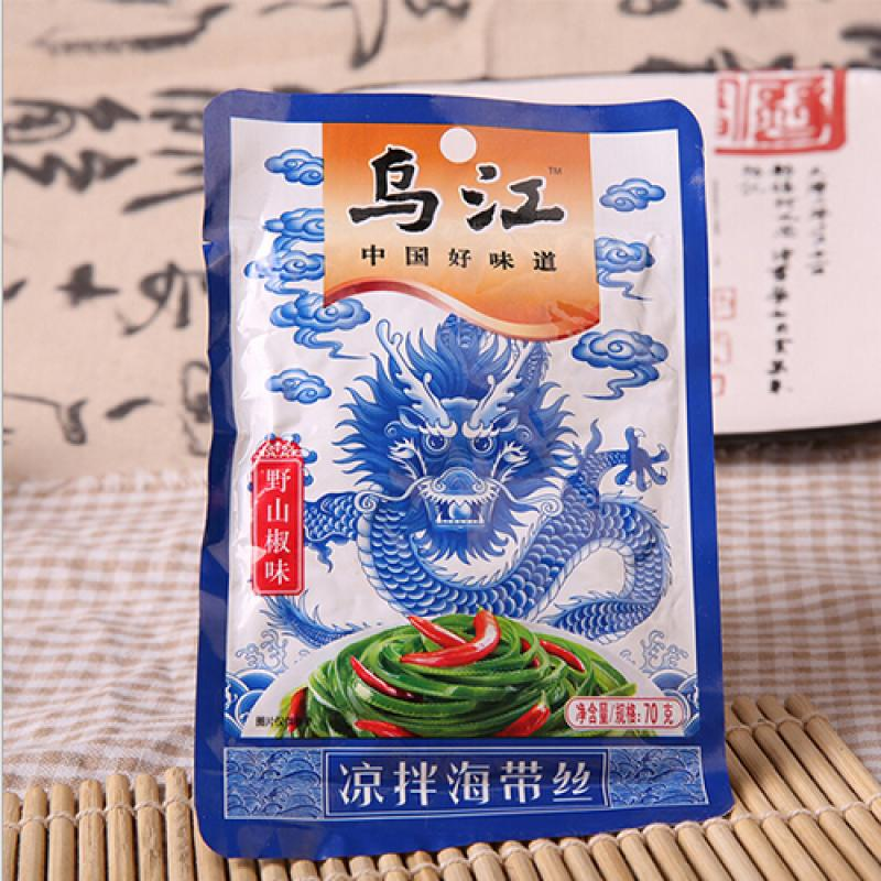 FLZC SALTED SEAWEED (SPICY) 70G 凉拌海带丝-山椒