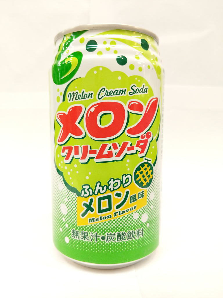 TOMINAGA Melon Cream Soda 富永气泡饮料 蜜瓜味 350ml