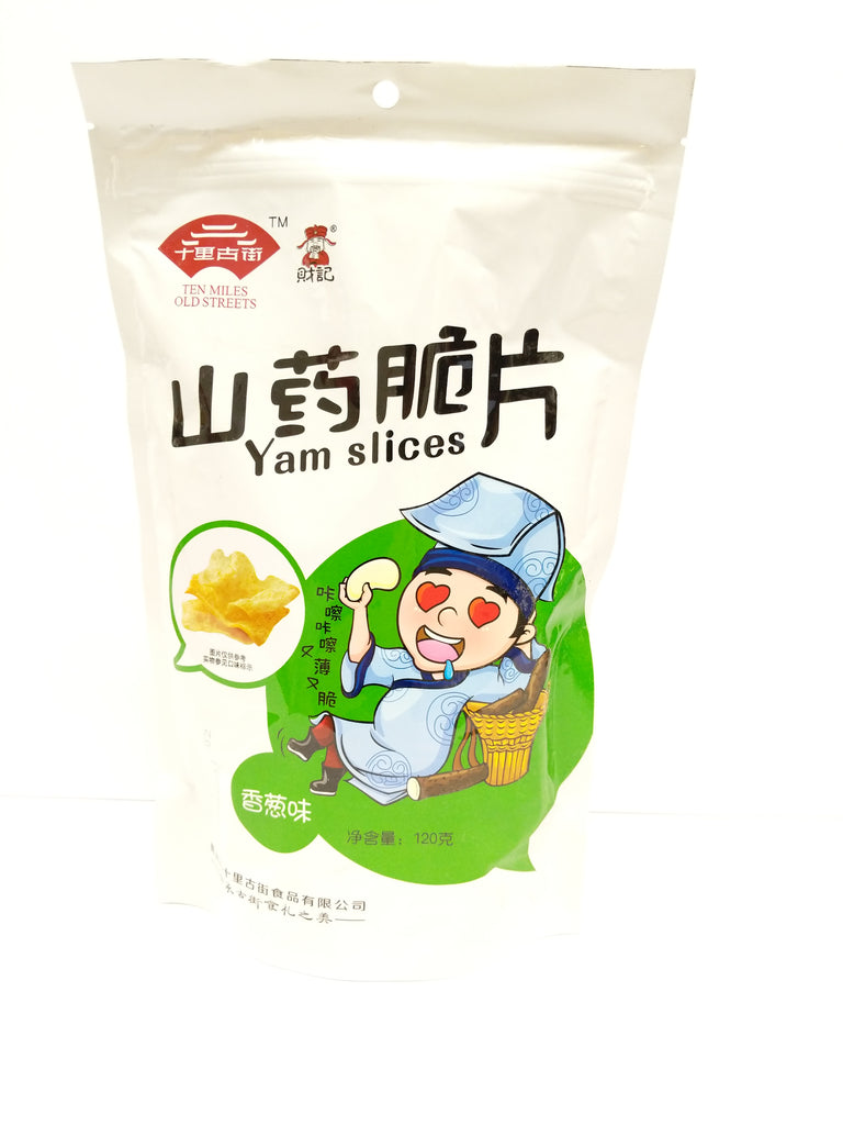 Ten Miles Old Streets Chinese Yam Chips (Spring Onion) 十里古街山药脆片(香葱) 120g