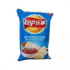 Lay's chips (italian red meat flavour) 乐事 义大利香浓红烩薯片 70G