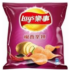Lays Potato Chips (Hot and Spicy) 乐事洋芋片 (椒香辛辣) 45g