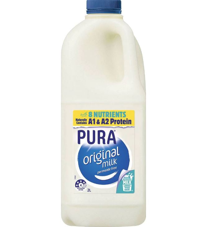 PURA FULL CREAM MILK 2L