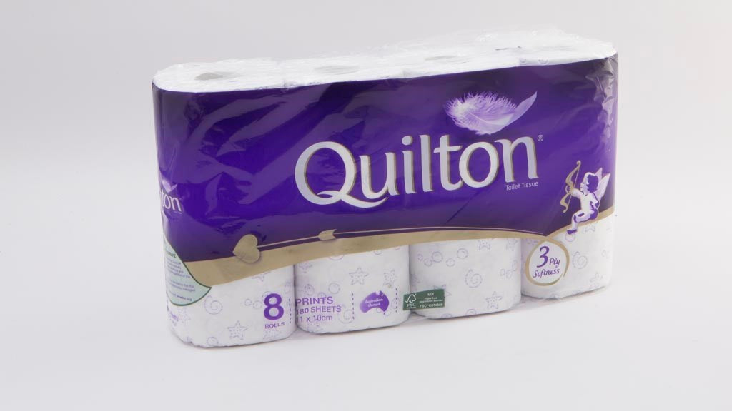 QUILTON WHITE TOILET ROLL 3PLY Quilton 厕纸 8卷装