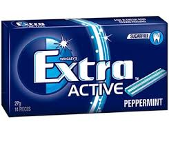 WRIGLEYS EXTRA ACTIVE PEPPERMINT ENVELOPE PACK