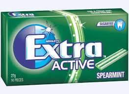 WRIGLEYS EXTRA ACTIVE SPEARMINT ENVELOPE PACK