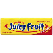 WRIGLEYS JUICY FRUIT CHEWING GUM REGULAR SINGLES 口香糖 (水果味) 14g