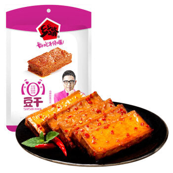 XXZ Dried Beancurd Snack (Spicy) 乡乡嘴豆干诱辣味100g